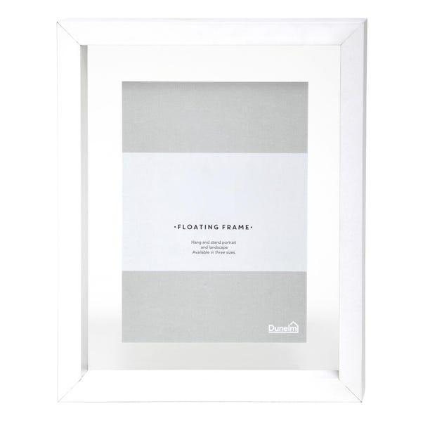 "White Floating Photo Frame 7"" x 5"" (18cm x 12cm) White"
