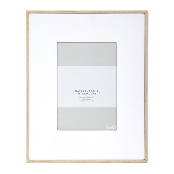 """Natural Frame With White Mount 7"""" x 5"""" (18cm x 12cm) Natural"""