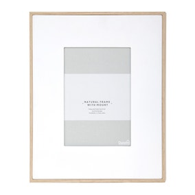 """Natural Frame With White Mount 7"""" x 5"""" (18cm x 12cm)"""