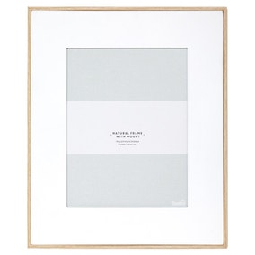 "Natural Frame With White Mount 10"" x 8"" (25cm x 20cm)"