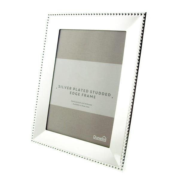 "Silver Stud Edge Photo Frame 7"" x 5"" (18cm x 12cm) Silver"