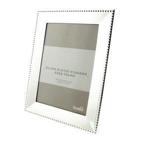 "Silver Stud Edge Photo Frame 7"" x 5"" (18cm x 12cm)"