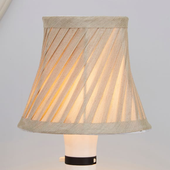 Twisted Pleat 12cm Candle Champagne Shade Champagne