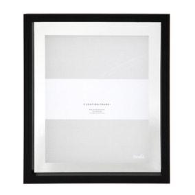 "Black Floating Photo Frame 10"" x 8"" (25cm x 20cm)"