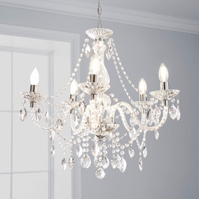 Marie Therese 5 Light Integrated LED Chrome Chandelier