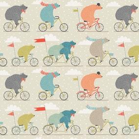 Bear On A Bike PVC Fabric
