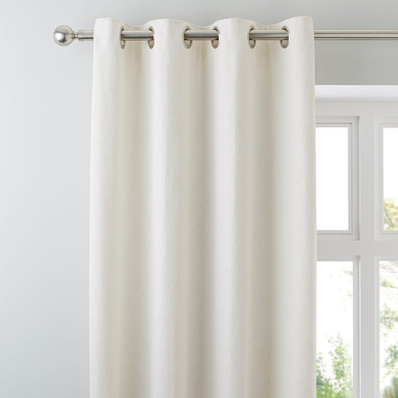 Dempsey Natural Eyelet Curtains Natural undefined