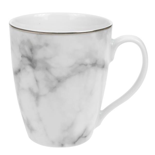 Marble Effect Gold Rim Mug White