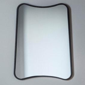Kurva Black 81x61cm Wall Mirror
