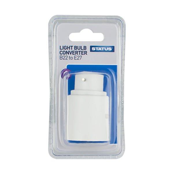 Status BC to ES Light Bulb Cap Converter White