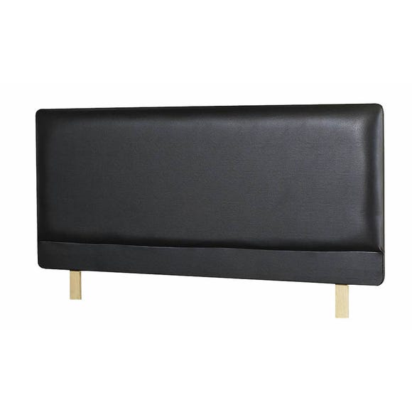 Madrid Faux Leather Headboard Black undefined