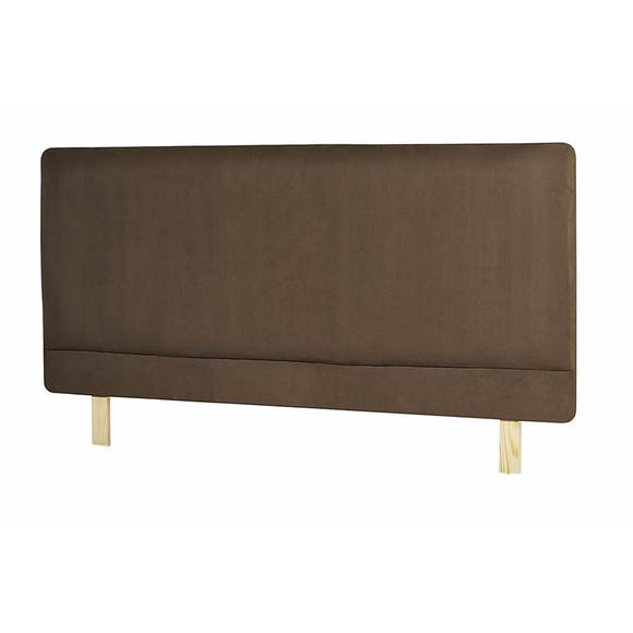 Madrid Suede Headboard Bitter Chocolate (Brown) undefined
