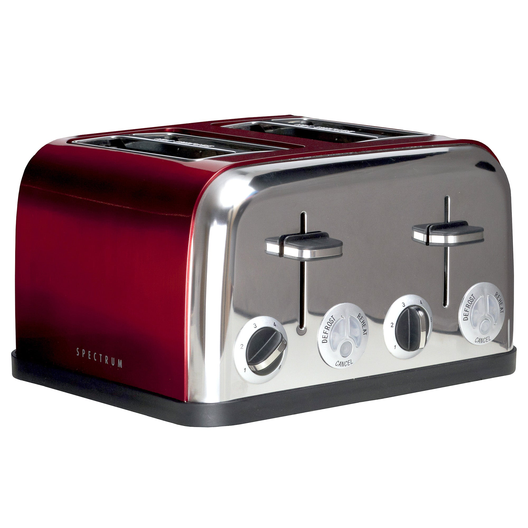 Spectrum Red 4 Slice Toaster Red