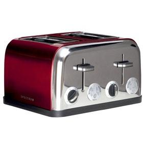 Spectrum Red 4 Slice Toaster