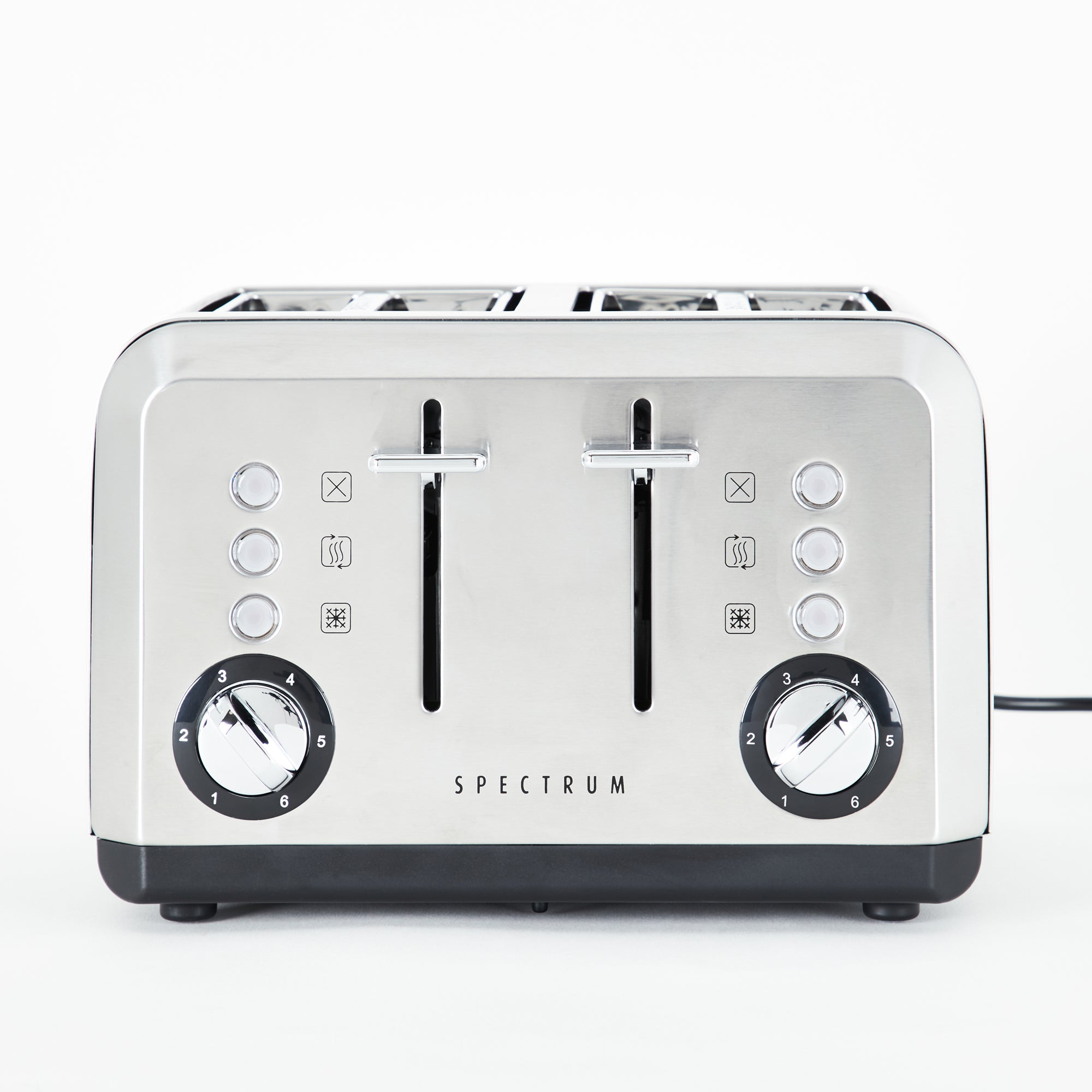Spectrum Brushed Stainless Steel 4 Slice Toaster Stainless Steel