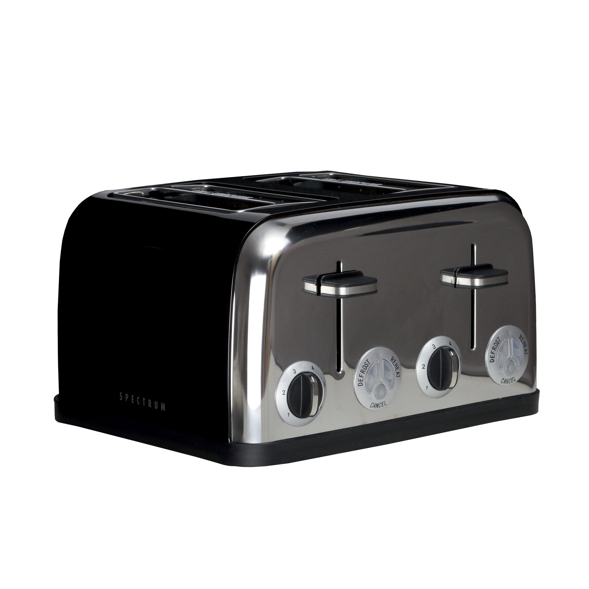 Spectrum Black 4 Slice Toaster Black