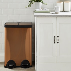 Dunelm 30/30 Litre Copper Recycling Bin