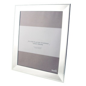 "Silver Stud Edge Photo Frame 10"" x 8"" (25cm x 20cm)"