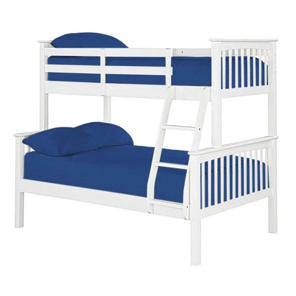 Novaro White Triple Sleeper Bunk Bed White