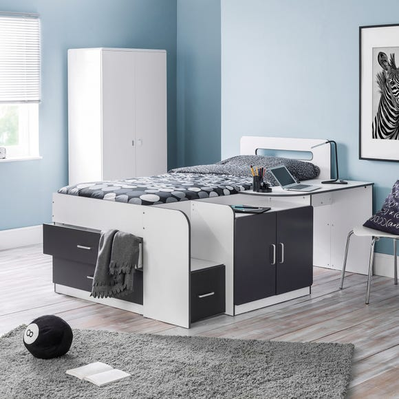 Cookie White and Grey Cabin Bed Grey