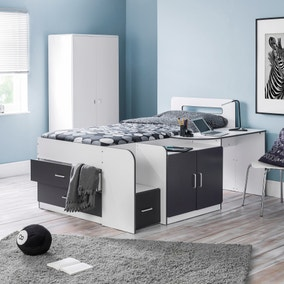 Cookie White and Grey Cabin Bed
