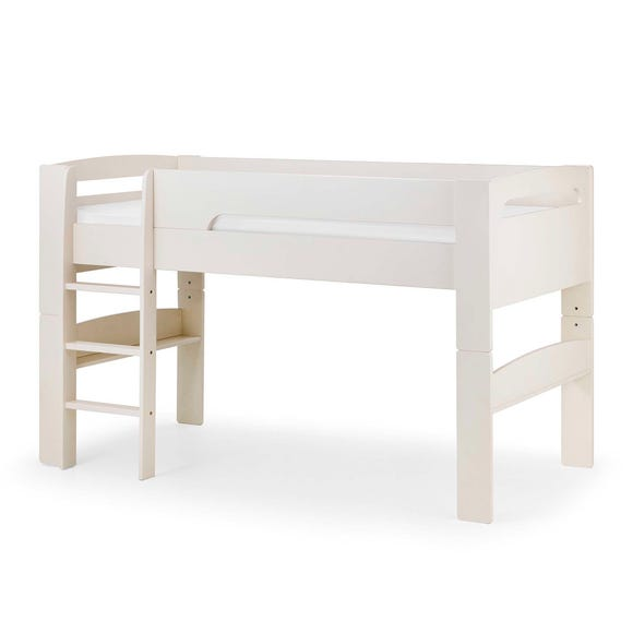 Pluto White Mid Sleeper Bed White