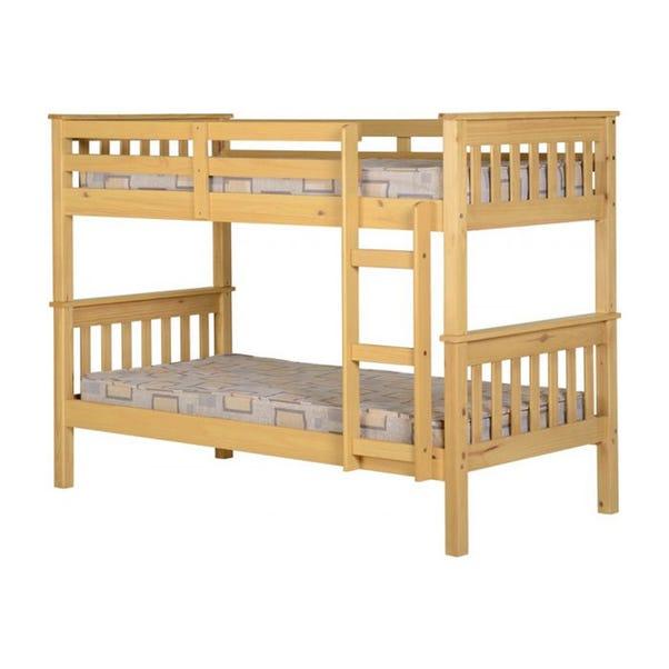 Neptune Pine Bunk Bed Wood (Brown)
