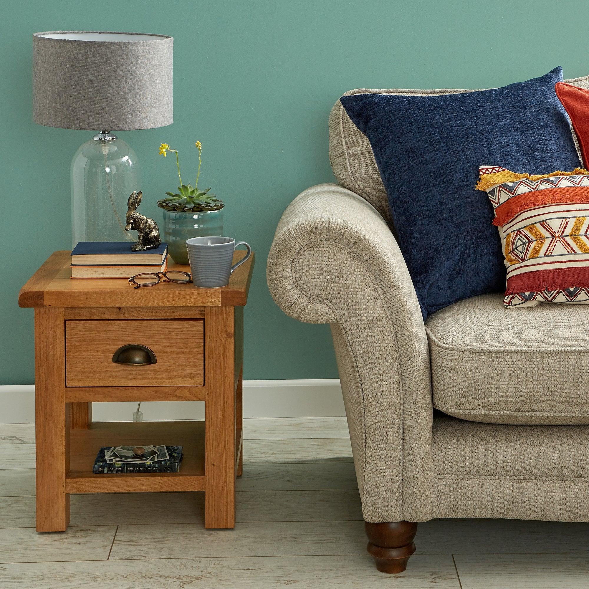 Sherbourne Oak Lamp Table Natural