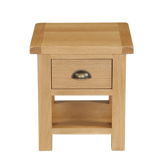 Sherbourne Oak Lamp Table Natural