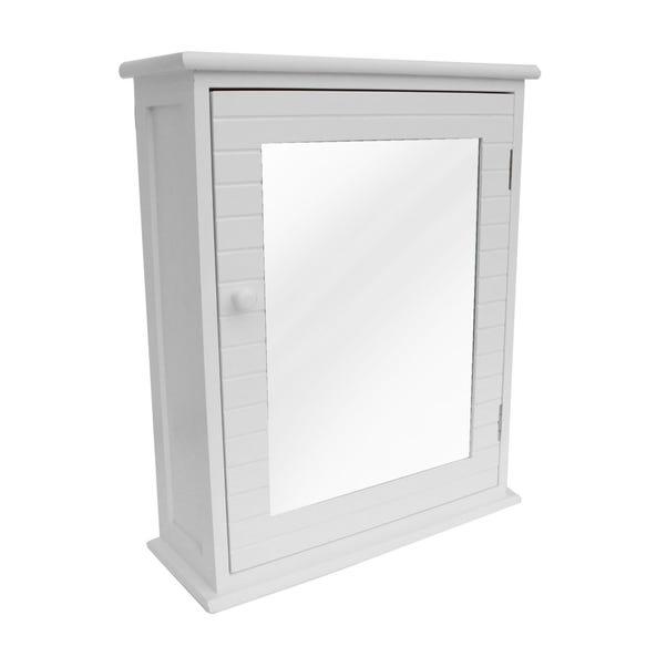 Nautical White Mirror Cabinet White