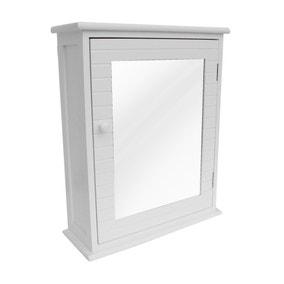 Nautical White Mirror Cabinet