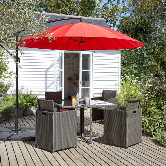 Shanghai Red Cantilever Parasol Red