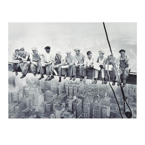 NY Men on Lunch Canvas Print