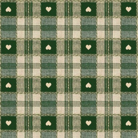 Green Hearts PVC Fabric