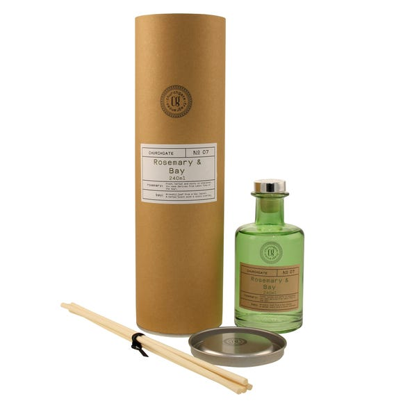 Churchgate Rosemary and Bay 240ml Reed Diffuser Green