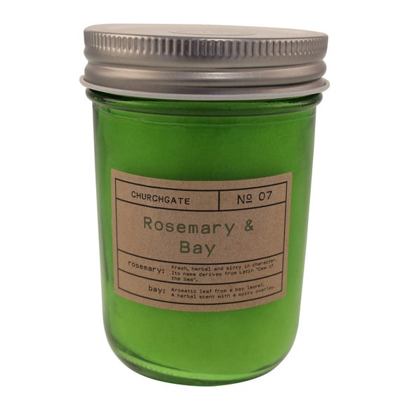 Churchgate Rosemary and Bay Driftwood Candle Green
