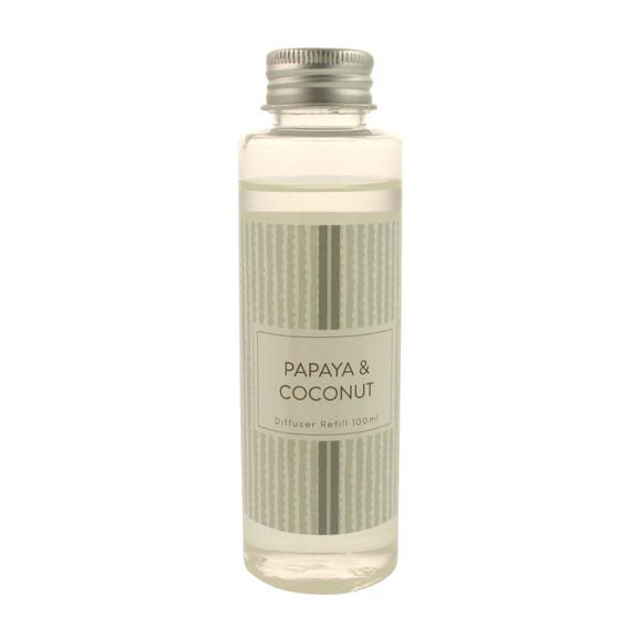 Papaya and Coconut Reed Diffuser Refill Clear