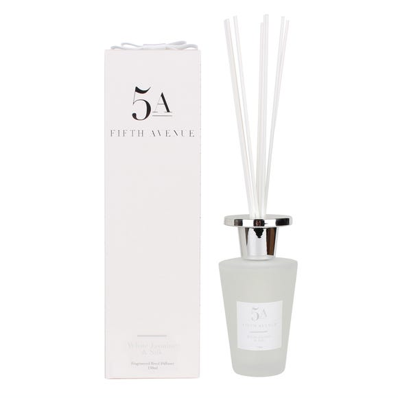 5A Fifth Avenue White Jasmine and Silk 150ml Reed Diffuser White
