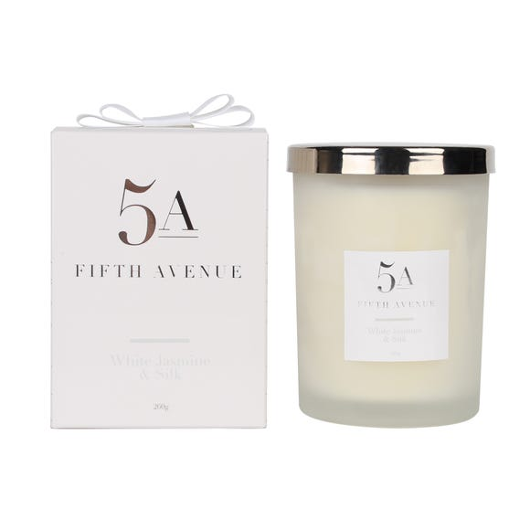 5A Fifth Avenue Jasmine and Silk Candle White