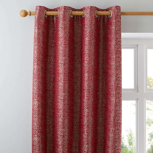 Smythe Red Eyelet Curtains  undefined
