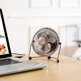 """4"""" USB Copper Desk Fan"""