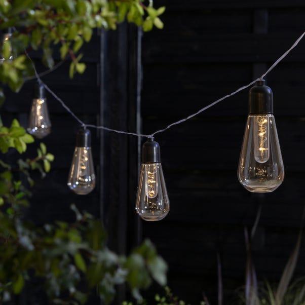 10 Retro Bulb Filament String Lights Clear