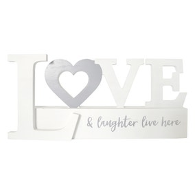 Love and Laughter Word Ornament