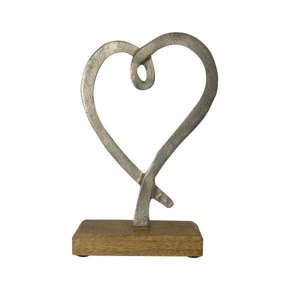 Metal Heart Ornament Silver