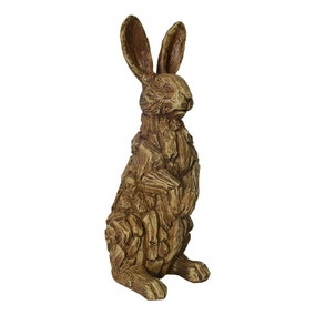 Driftwood Resin Rabbit Ornament