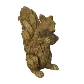Driftwood Resin Squirrel Ornament