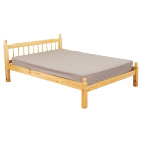 Pamela Honey Oak Wooden Bed Frame