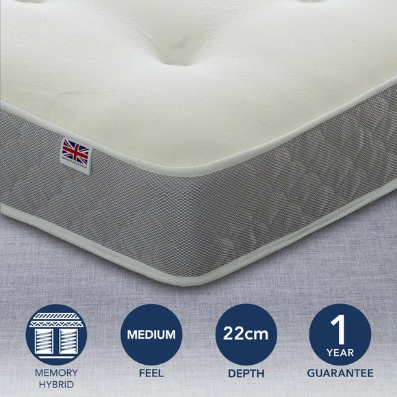 Prague Open Coil and Memory Foam Mattress White undefined