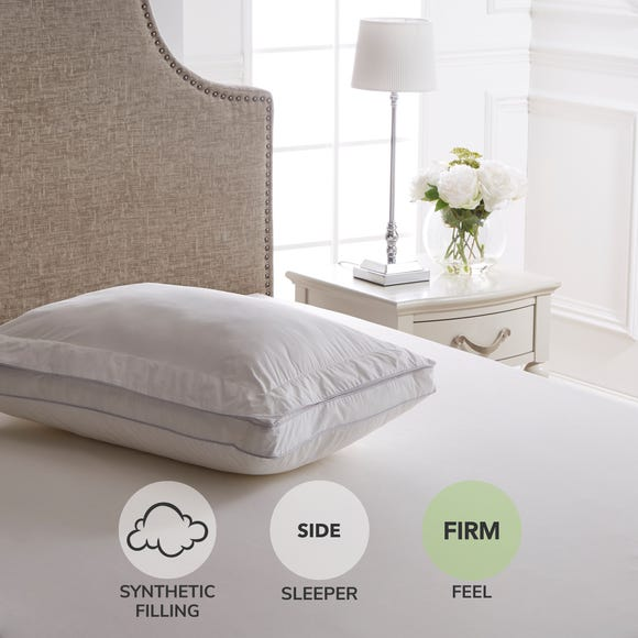 Dorma Extra Firm and Deep Deluxe Oxford Border Pillow Top White undefined