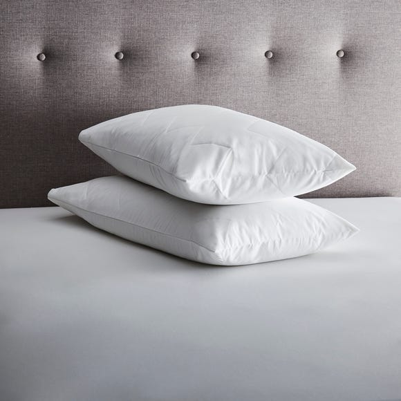 Fogarty Forever Fresh Antibacterial Pair of Pillow Protectors White